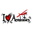 aerobatics symbol vector image vector image