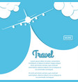 airplane travel biplane with banner vector image