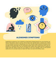 alzheimer s symptoms banner template in flat style vector image vector image
