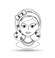 beautiful lady design vector image