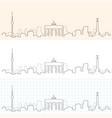 berlin hand drawn skyline vector image vector image