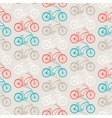 Bicycles seamless pattern in retro style vector image