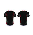 black and red layout e-sport t-shirt design vector image vector image