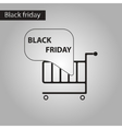 black and white style icon Shopping Cart Black vector image vector image
