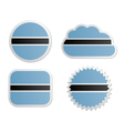 Botswana flag labels vector image