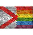 brick wall alabama and gay flags vector image vector image
