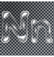 Bubbles letters N vector image vector image