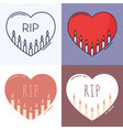 candles inside heart outline icon set vector image