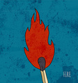 Cartoon burning match Vintage vector image