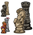 chess rook and knight vector image vector image