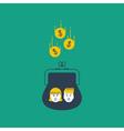 Children money accumulation allowance concept vector image vector image