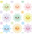 Christmas design seamless pattern Kawaii vector image vector image