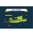 civil aviation travel small easy passenger air vector image