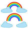 clouds and rainbow isolated on white background vector image vector image
