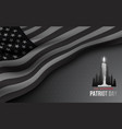 concept black and white banner for american vector image vector image