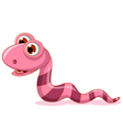 cute little worm cartoon vector image vector image