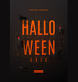 dark flyer for halloween sale vector image vector image