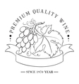 Design of logo for wine vector image