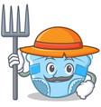 farmer baby diaper character cartoon vector image vector image