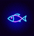 fish neon sign vector image