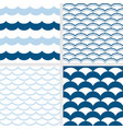 fish scale and wave pattern vector image vector image