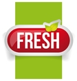 Fresh button with leaves vector image vector image