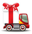 Gift Box on Car vector image vector image