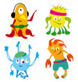 good monsters set vector image vector image