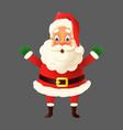 happy cute santa claus isolated vector image