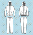 Hoodi and sweatpants set vector image vector image