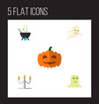 icon flat celebrate set cauldron phantom vector image vector image