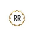 initial letter rr elegance creative logo vector image vector image