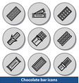 light chocolate bar icons vector image vector image
