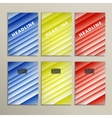 lines on a colored background Set banners vector image vector image