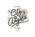 Los angeles typographic print