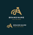 luxury letter a logo template vector image vector image