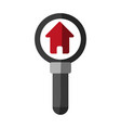 magnifying glass and house real estate related vector image