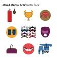 Mix Martial Arts Icons Set vector image vector image