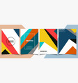 modern colorful brochure classic in geometrical vector image vector image
