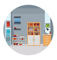 modern furniture room cartoon vector image vector image