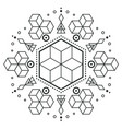 modern hexagon arrow design tattoo image vector image vector image