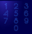 numbers font set from 0 to 9 from futuristic vector image vector image