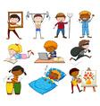 People doing different activities vector image vector image