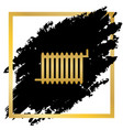radiator sign golden icon at black spot vector image vector image