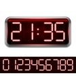 Red Digital Clock vector image vector image