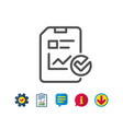 report document line icon checklist vector image vector image