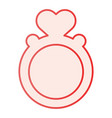 ring with heart shaped gemstone flat icon vector image
