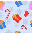Seamless Christmas and New Year pattren vector image vector image