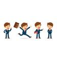 set businessman working character design flat vector image