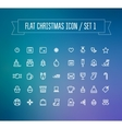 Set of flat Christmas icons vector image vector image